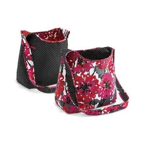 Thirty-One Inside Out hobo bold bloom / swiss dot